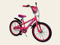 Двухколесный детский велосипед для девочки 20 дюймов Like2bike Sprint 192032 Розовый со звонком и зеркалом