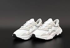 Женские кроссовки Adidas Ozweego White/Gray/Black, фото 3