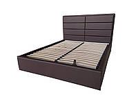 М'яка двоспальне ліжко Софі шоколад