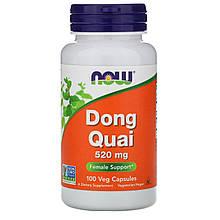 """Дягиль лекарственный NOW Foods """"Dong Quai"""" для женского здоровья, 520 мг (100 капсул)"""