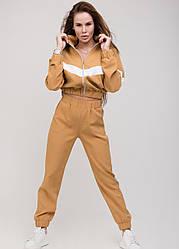Женский спортивный костюм с укороченной толстовкой, в расцветках, р.42,44,46