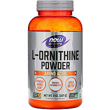 "L-Орнитин NOW Foods, Sports ""L-Ornithine Pure Powder"" чистый порошок (227 г)"