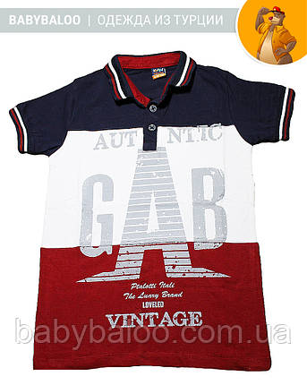 "Стильная футболка поло ""GAB"" (от 9 до 12 лет), фото 2"