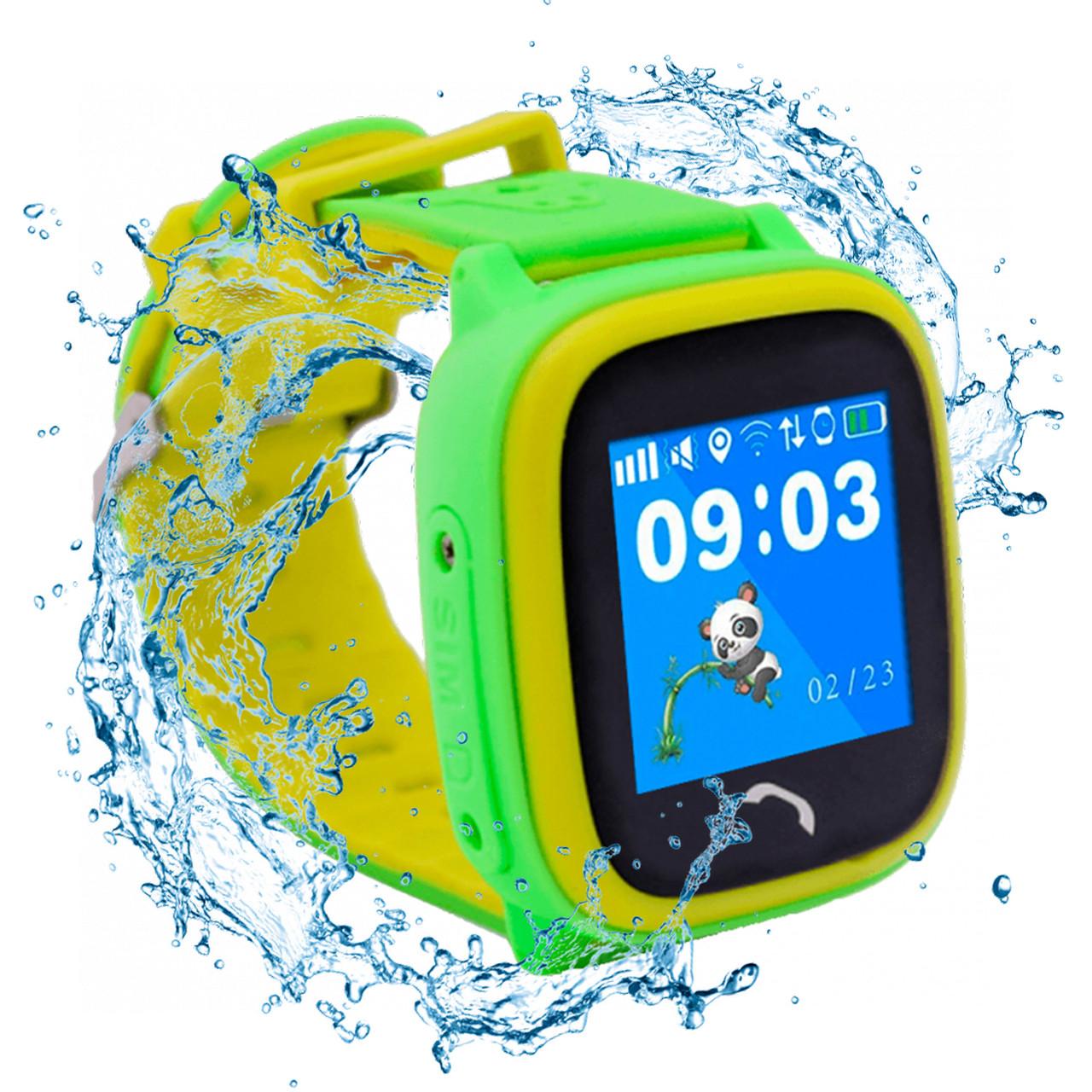 JETIX DF25 LightStrap Дитячі годинник-телефон з GPS маячком, валогазащитой IP67 + Захисне скло (Green)