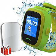 JETIX DF25 LightStrap Дитячі годинник-телефон з GPS маячком, валогазащитой IP67 + Захисне скло (Green), фото 2