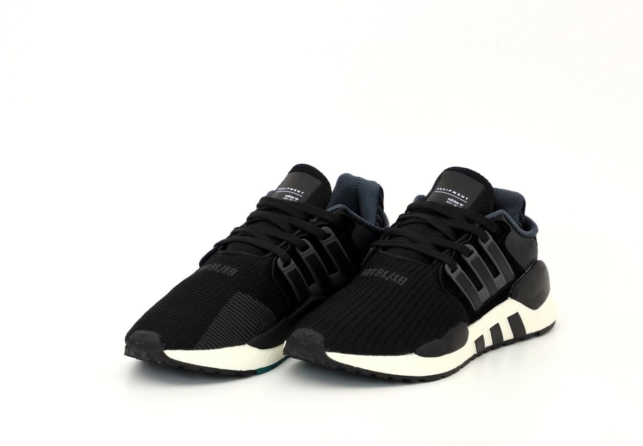 Мужские черные Кроссовки Adidas EQT(реплика)