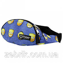 Бананка детская, сумка на пояс детская, сумка через плечо детская  TIGER Симсоны