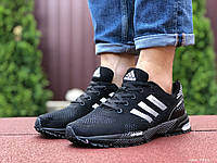Кроссовки мужские в стиле 9461 Adidas Marathon чорно білі