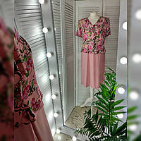 Сукня жіноча рожева з принтом.