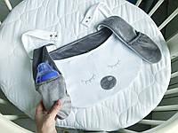 """Карман на кроватку, органайзер детский. Оригинальные кармашки для кроватки. Сумка на коляску """"Зайчик"""""""