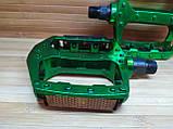 Педали на MTB широкие алюминиевые зеленые, фото 2