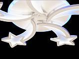 Люстра светодиодная 8163/5 white 105w диммируемая с led подсветкой, фото 4