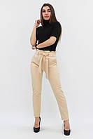 S, M, L, XL | Жіночі брюки з пояском Kosmo, бежевий