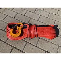 Синтетический (кевларовый) трос 25м 12мм (красный)