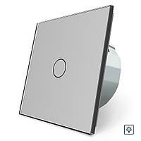 Сенсорный диммер Livolo серый стекло (VL-C701D-15)