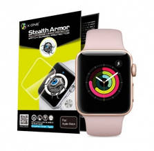 Защитная пленка Apple Watch 4 44mm, прозрачная, противоударная, Stealth Armor Watch Screen Protector, X-One