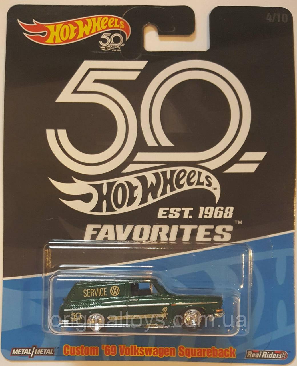 Коллекционная машинка Hot Wheels '69 Volkswagen Squareback