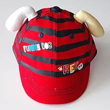 Кепка дитяча бавовняна c вушками (46-48 см) червона