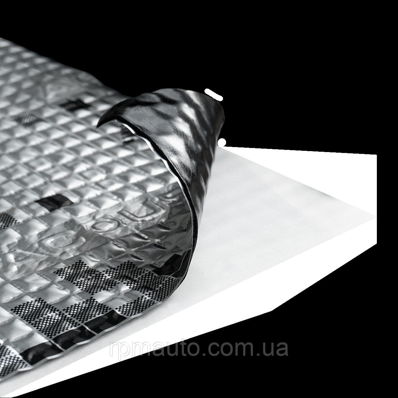Шумоізоляція Авто Acoustics Alumat 4.0 50х37 см Обесшумка Віброізоляція Шумка Шумоізоляція Виброшумоизоляция