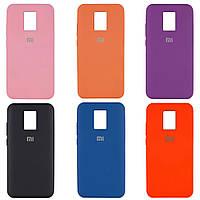Оригинальный чехол для Xiaomi Redmi Note 9s / Note 9 Pro Silicone Case Full (Разные цвета)
