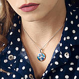 Серебряные серьги с эмалью, фото 6