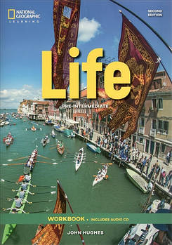 Life 2nd Edition Pre-Intermediate Workbook without Key and Audio CD