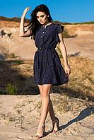 Летнее платье цвет: т.синий-белый м. горох, размер: 42, 44, 46, 48
