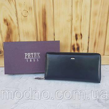 Чоловічий шкіряний гаманець портмоне на блискавці Petek