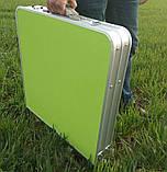 Стол складной + 4 стула для пикника - Folding table (зеленый), фото 3