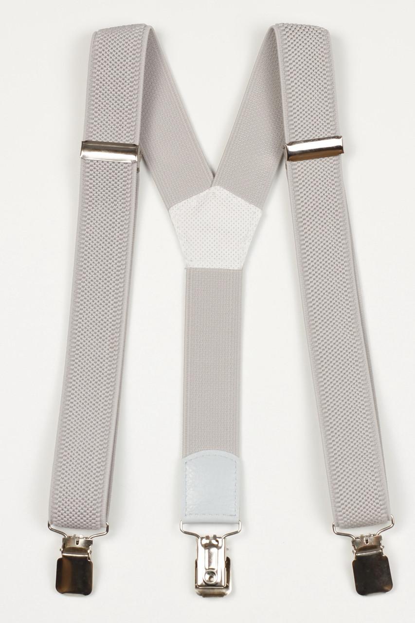 Подтяжки подростковые узкие Y25 Top Gal светло-серые однотонные цвета в ассортименте