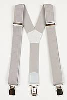 Подтяжки подростковые узкие Y25 Top Gal светло-серые однотонные цвета в ассортименте, фото 1