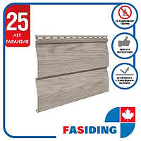 Сайдинг виниловый. Панель FaSiding WoodHouse 3,0х0,25 м. Цвет: Дуб Морёный
