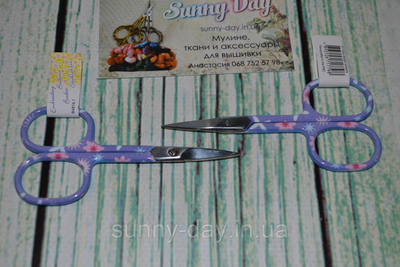 Ножницы для рукоделия Hemline, цвет - сиреневый с рисунком