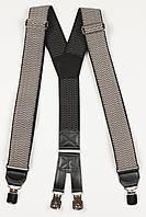 Підтяжки чоловічі унісекс широкі однотонні York Y40 Top Gal середньо-сірі кольори в асортименті, фото 1