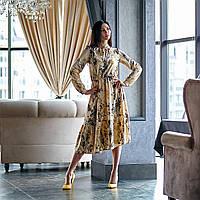 Летнее платье цвет: оливковый, размер: 44, 46, 48, 50