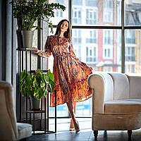 Летнее платье цвет: розовый, размер: 44, 46, 48, 50