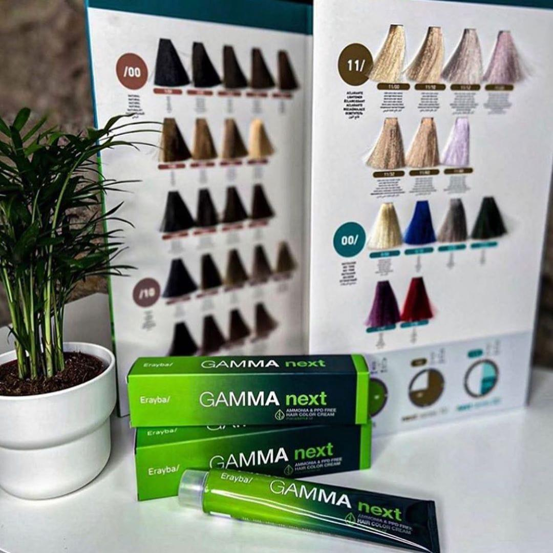 Безаміачна фарба для волосся з маслом макадамії Erayba Gamma Next 5/61 - попелястий коричневий світло-каштановий