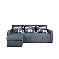 Угловой диван Mario, раскладной диван, мебель диваны, мягкая мебель, диван в гостиную, софа Серый без узоров