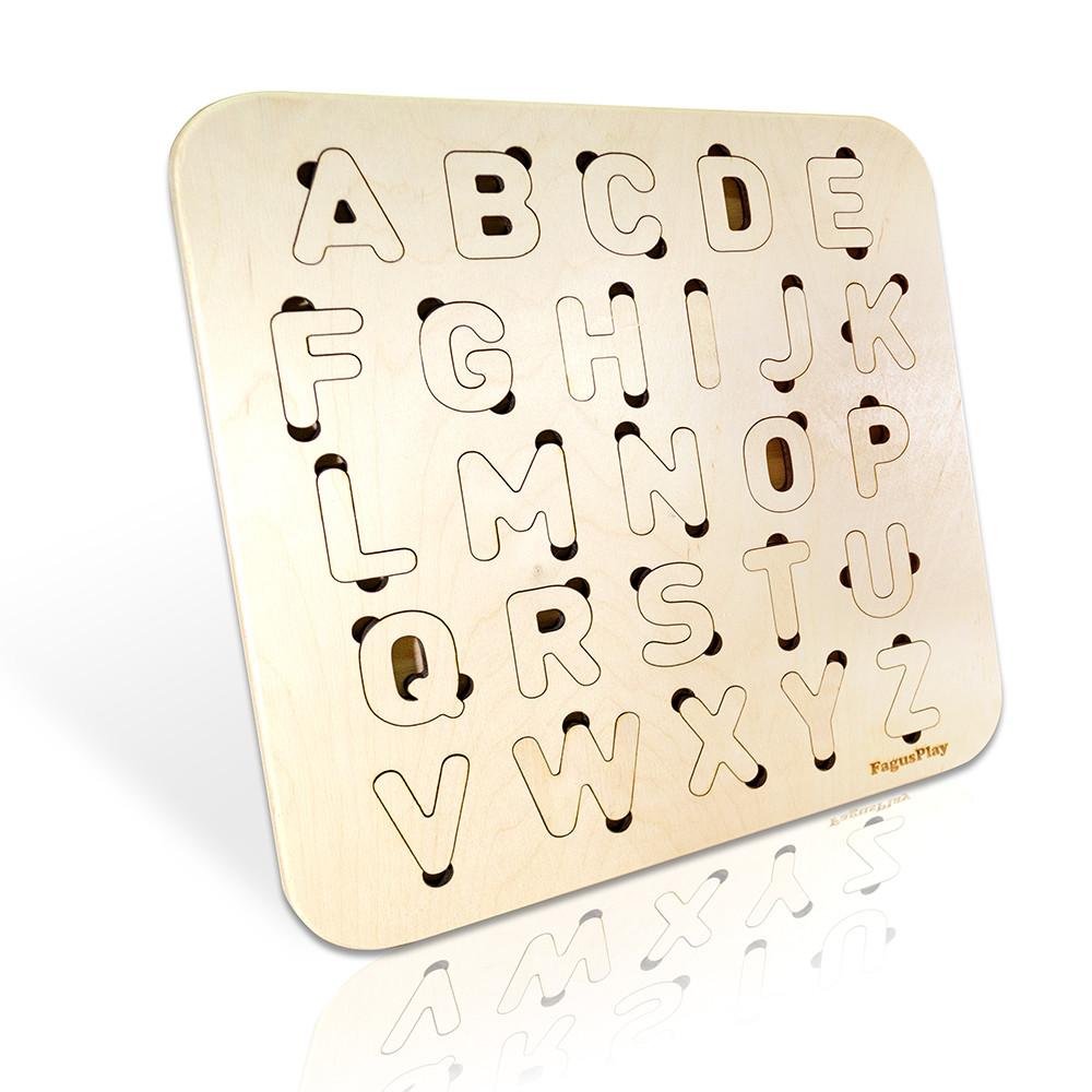 Дерев'яний алфавіт, англійська мова