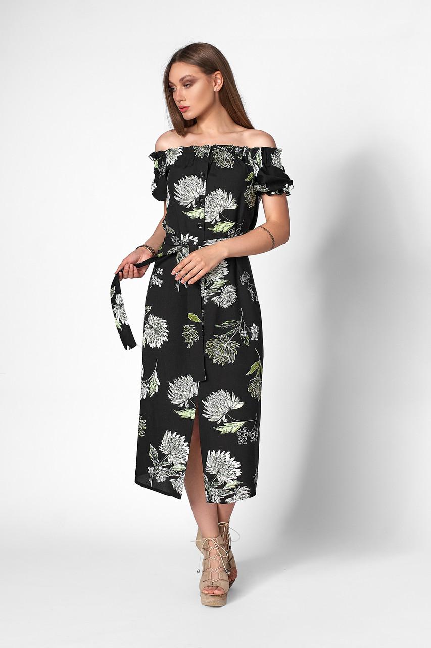 Романтическое платье с открытыми плечами без бретелей .Разные цвета