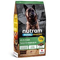 Сухой корм Nutram (Нутрам) T26 без злаковый корм для собак всех пород и возрастов (ягненок и чечевица) 11,4 кг