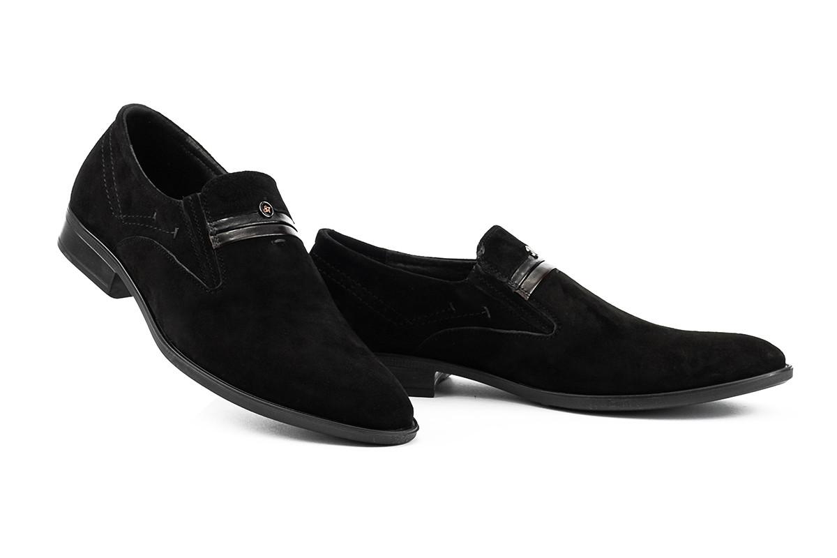 Чоловічі туфлі натуральна замша без шнурків