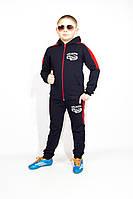 Спортивный костюм в школу (Синий с красным ) мальчику, 128-134-140 рост