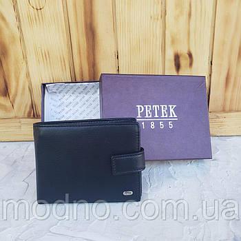 Чоловічий шкіряний турецький гаманець на кнопці Petek