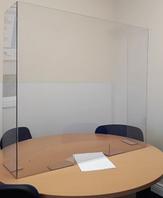 Защитный экран на рабочий стол и ресепшн 500*500 мм, толщина акрила 4 мм