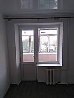 Балконный блок энергосберегающий состоящий из балконной двери и окна