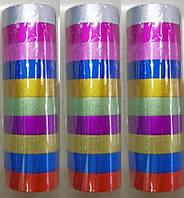 Скотч декоративный 8080-1 с блеском 1,5х200см уп10