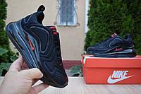 N1ke Air Max 720 черные найк кроссовки женские кросовки кеды кеди