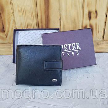 Чоловічий якісний шкіряний турецький гаманець на кнопці Petek