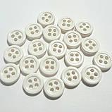Рубашечная пуговица пластиковая, 9 мм диаметр, цвет жемчужный, фото 2